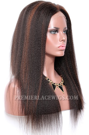1b 33 Highlights Color Full Lace Wigs Indian Remy Human