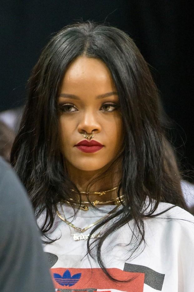 Rihanna Long Style Black Hair Straight Human Hair Celebrity Lace