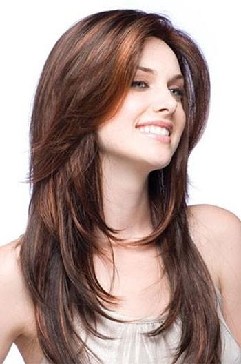Strange Layered Haircuts Brown Indian Human Hair Full Lace Wigs Short Hairstyles Gunalazisus