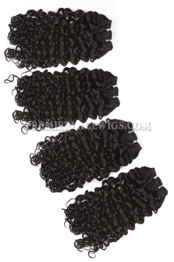 Brazilian Virgin Hair Weave Candy Curl 4ozs thick Hair 4 Bundles Deal
