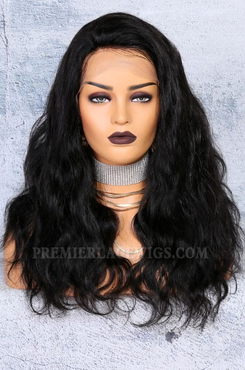 """250% Density 4.5"""" Lace Front Wigs Indian Remy Hair Natural Wave"""