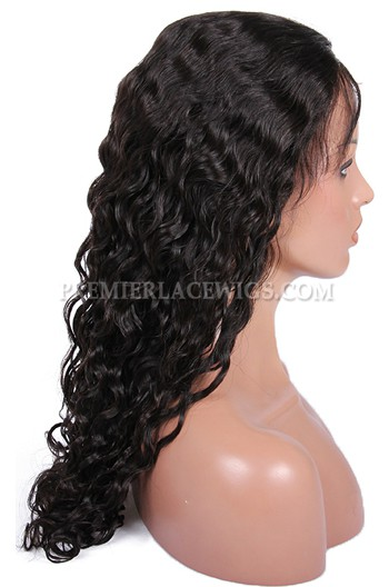 Brazilian virgin hair peruvian curl full lace wigs