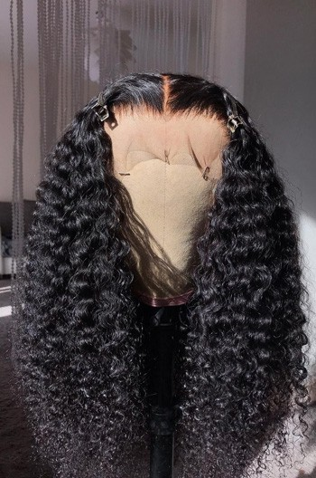 Tight Curls Middle Part 360 Lace Wig,Pre-Plucked Hairline,Advanced Bleached Knots,Indian Remy Hair