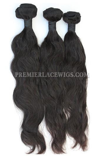 3 Bundles Deal Peruvian Virgin Hair Natural Color Natural Wave Hair Extension