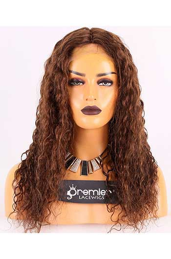 Clearance 150% Density Affordable Lace Wig Wet Wavy Indian Remy Hair,4#  Color, Middle Part,Silk Base Parting