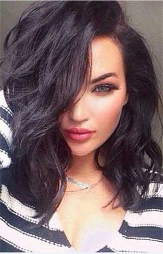 Natalie Halcro Wavy Lob Improved 360°Anatomic Lace Wigs,100% Indian Remy Hair,150% Thick Density