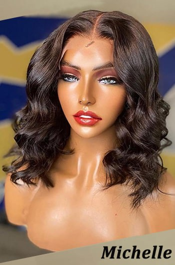 Bomb Wavy Bob Lace Front Wig