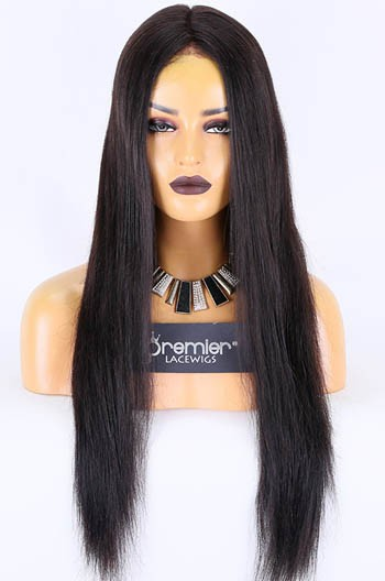 Clearance Sale Used Wigs, 360 Lace Wigs Indian Remy Human Hair Black Color, Medium Cap Size, Medium Brown Lace, 150% Thick Density