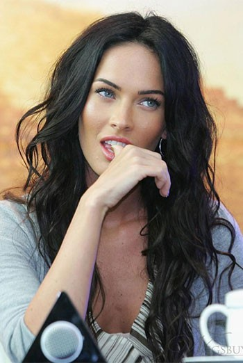 Megan Fox Sexy Loose Wavy 360° Lace Wigs,Indian Remy Hair,Pre-plucked Hairline