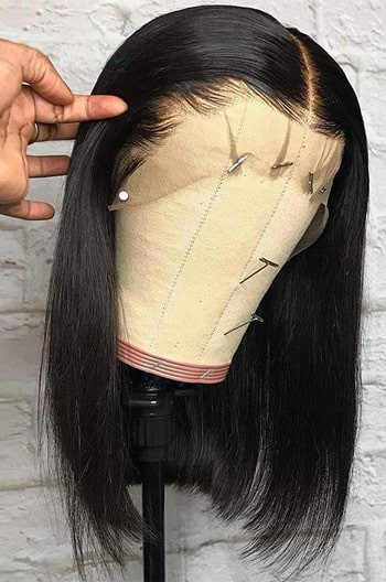 Blunt Cut Bob Bone Straight