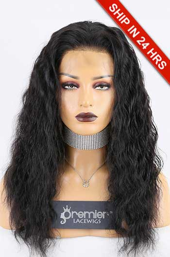 "Super Deal 4.5"" Lace 360 Wig,Indian Remy Hair 1B# Color,18 inches Deep Body Wave"