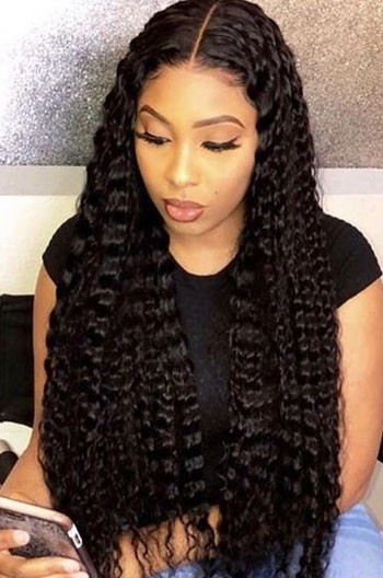 Deep Middle Part Curly Hair 13 X6 Lace Frontal Wig Advanced Pre