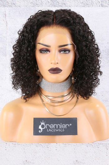 "13""x6"" Lace Frontal Wig,Middle Part Textured Bob"