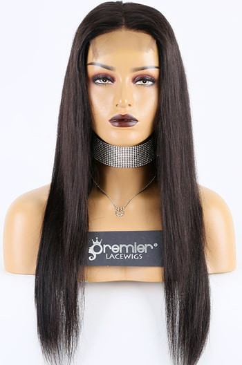 "16""  Bone Straight 4""x4"" Lace Closure Wig"