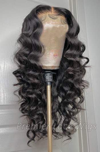 "5""x5"" HD Lace Closure Wig, Loose Curly"