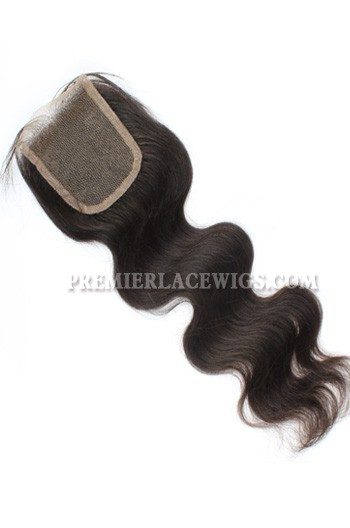 Brazilian Virgin Hair Lace Closure Natural Color 4x4inches Body Wave