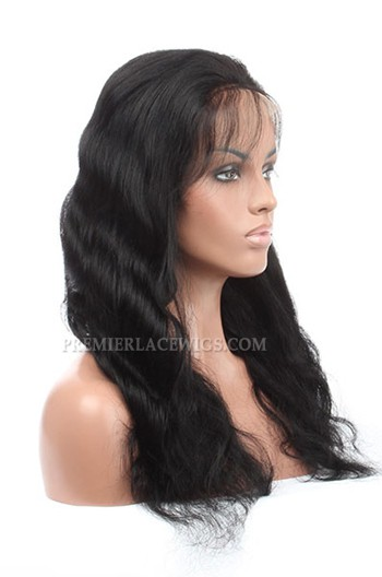 Stock Malaysian Virgin Hair Body Wave Glueless Lace Front Wigs