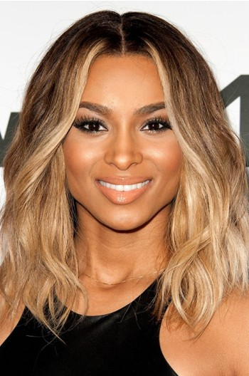 Ciara Ombre Honey Blonde Color Medium Bob Virgin Hair Lace