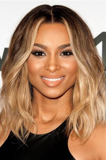 Ciara Ombre Honey Blonde Color Medium Bob Virgin Hair Lace