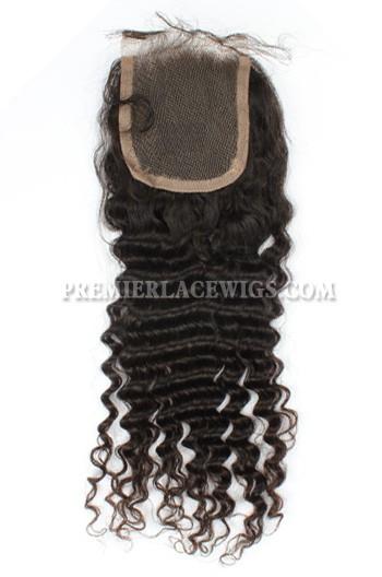 Peruvian Virgin Hair Lace Closure 4X4inches Deep Wave