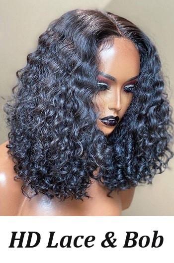 HD Lace curly bob