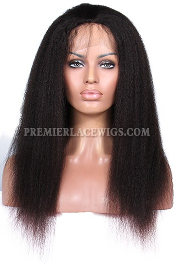 Indian Remy Human Hair Kinky Straight Glueless Full Lace Wigs