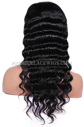 Brazilian Virgin Hair Deep Body Wave Glueless Full Lace Wigs