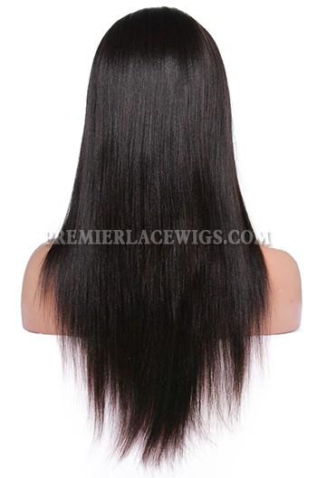 Brazilian Virgin Hair Yaki Straight Glueless Full Lace Wigs