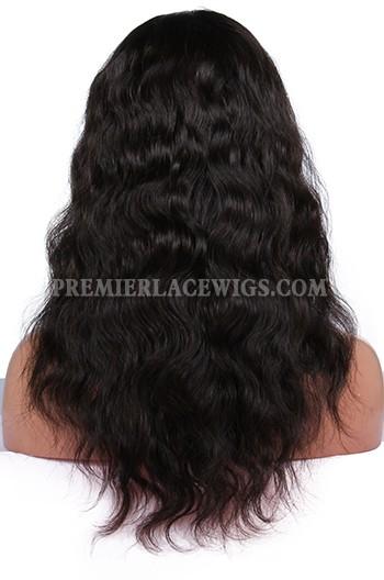 Brazilian Virgin Hair Natural Wave Glueless Full Lace Wigs
