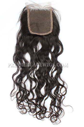 Indian Virgin Hair Lace Closure Loose Curls Loose Curl