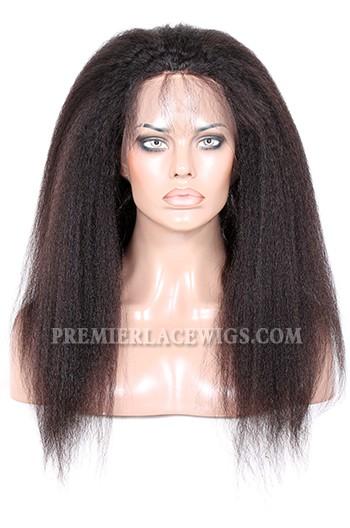 Peruvian Virgin Hair 360°Circular Lace Frontal Kinky Straight