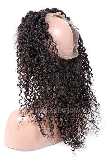 Peruvian Virgin Hair 360°Circular Lace Frontal Water Wave