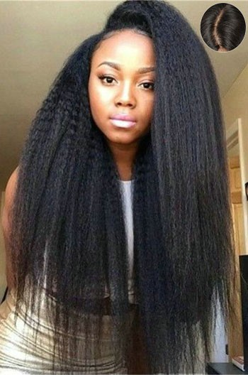 Indian Remy Hair Kinky Straight 4 5 Quot Super Deep C Side