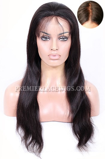 Indian Remy Hair Natural Straight Silk Top Glueless Lace Front Wigs