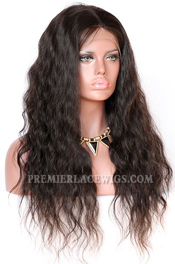 Brazilian Virgin Hair Natural Wave Glueless Lace Front Wigs