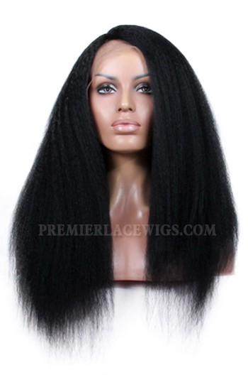 f5ffdcb511f Indian Remy Hair Side Part Kinky Straight Natural Looking Glueless ...