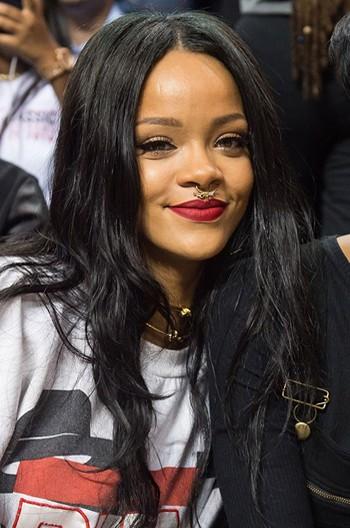 Rihanna Long Style Black Hair Straight Human Hair