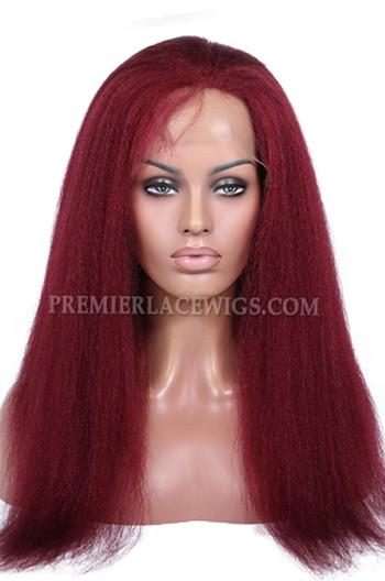 1f7ab2e252c 118# Red Color Kinky Straight Brazilian Virgin Hair Glueless Lace ...
