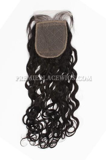 Brazilian Virgin Hair Silk Base Closure 4x4inches Loose Curl