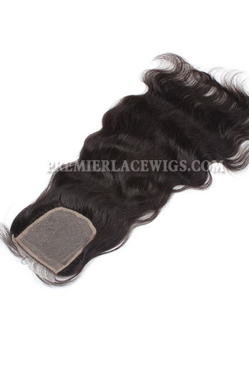 Indian Virgin Hair Silk Base Closure 4x4inches Natural Wave