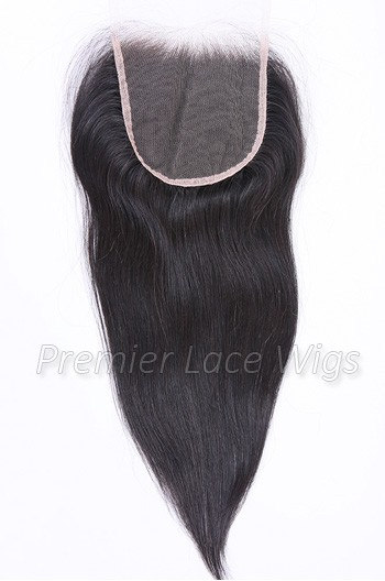 Transparent HD Lace 5×5 inches Lace Closures, Indian Remy Hair Silky Straight Natural Color, Pre-plucked Hairline