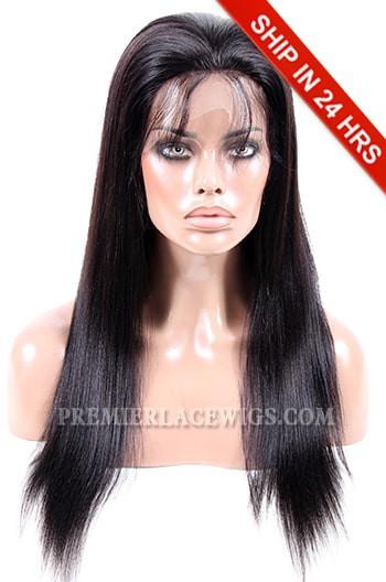 Malaysian Virgin Hair Light Yaki Glueless Lace Front Wigs