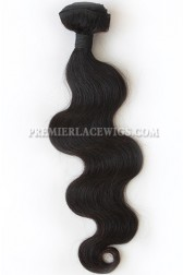 Natural Color Peruvian Virgin Hair Wefts Body Wave