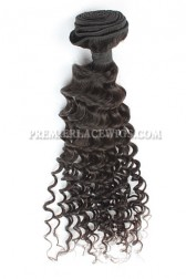Deep Body Wave Peruvian Virgin Hair Bundles 100g Natural Color Hair Wefts