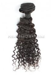 Deep Body Wave Peruvian Virgin Hair Bundles 100g Natural Color Hair Wefts