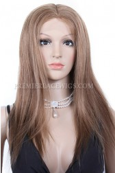 Indian Remy Hair Full Lace Wigs Silky Straight Dark Blonde 6#8# {Custom Wig Production Time 30 days}
