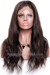 1B/30# Highlights Color Lace Front Wigs Indian Remy Human Hair Natural Straight {Need 30 Working Days To Process}