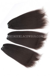 Brazilian Virgin Hair Weave Kinky Straight 4ozs thick Hair 3 Bundles Deal