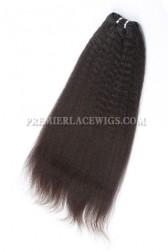 Luxury Brazilian Virgin Hair Weave Kinky Straight 4ozs Thick Bundles