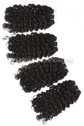 Brazilian Virgin Hair Weave Candy Curl 4ozs thick Hair 4 Bundles Deal